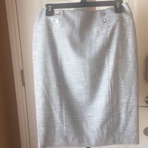 NWT WHBM midi light gray skirt size 6